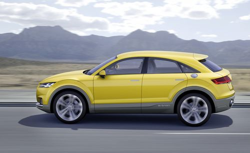 concept car audi-tt hybrid side view